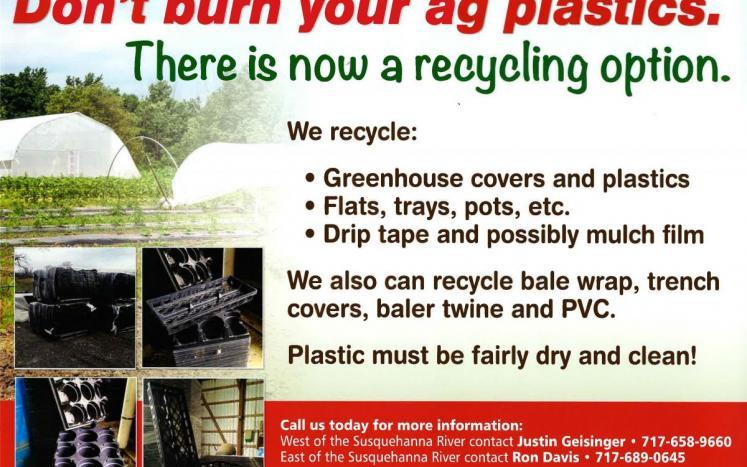 Don't burn your ag plastics